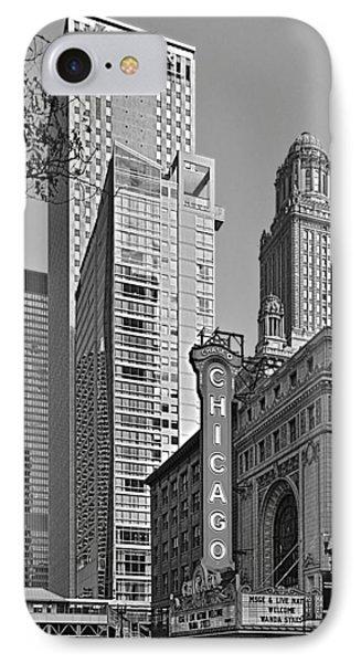 Chicago Theatre - This Theater Exudes Class Phone Case by Christine Till