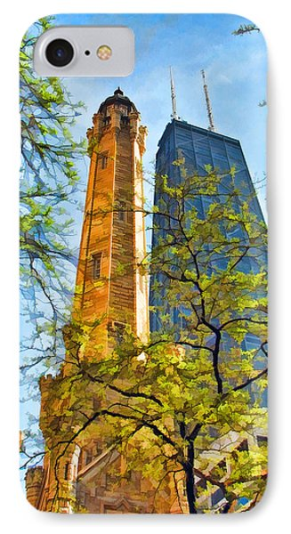 Chicago Water And Hancock Towers IPhone Case by Christopher Arndt