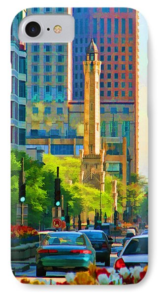 Chicago Water Tower Beacon Phone Case by Christopher Arndt