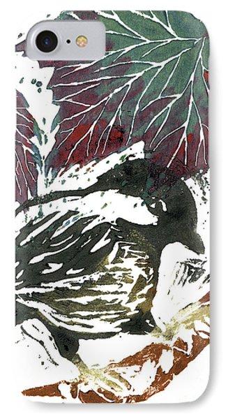 Chick A Dee  Block Print Phone Case by Ellen Miffitt