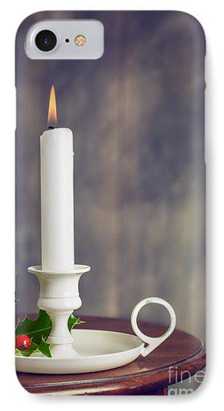 Christmas Candle IPhone Case by Amanda Elwell