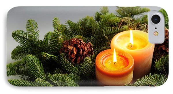 Christmas Candles IPhone Case by Elena Elisseeva