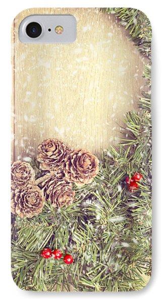 Christmas Garland Phone Case by Amanda Elwell