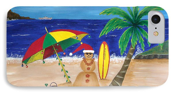 Christmas In Kona IPhone Case by Pamela Allegretto