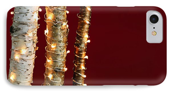 Christmas Lights On Birch Branches IPhone Case