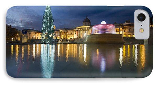 Christmas  Tree Trafalgar Square IPhone Case by David French