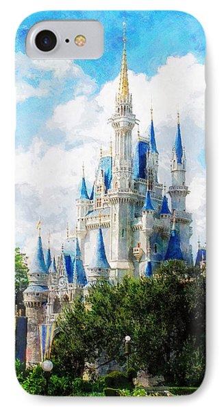 Cinderella Castle Phone Case by Sandy MacGowan