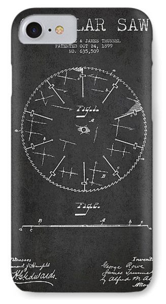 Circular Saw Patent Drawing From 1899 Phone Case by Aged Pixel