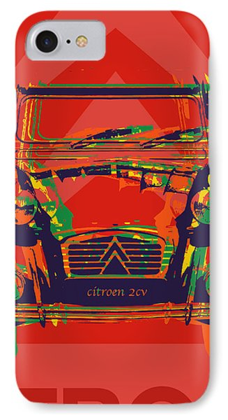Citroen 2cv IPhone Case by Jean luc Comperat