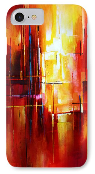 'city Of Fire' IPhone Case by Michael Lang