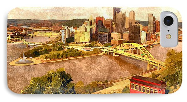 City Of Pittsburgh Phone Case by Charles Ott