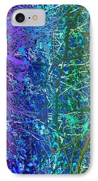 City Roads Map  Night Vision Neon Colors  Digital Graphic Conversion Enhancements Magical Signature  IPhone Case by Navin Joshi
