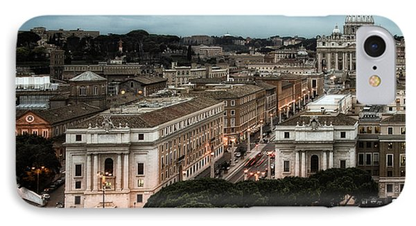 Cityscape In Rome IPhone Case by Celso Diniz