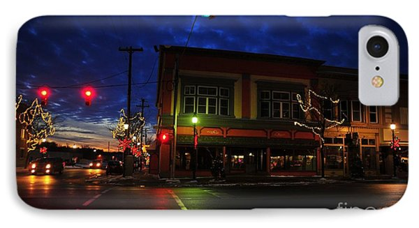 Clare Michigan At Christmas 14 IPhone Case by Terri Gostola