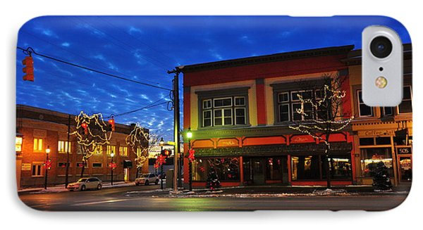 Clare Michigan At Christmas 2 IPhone Case by Terri Gostola