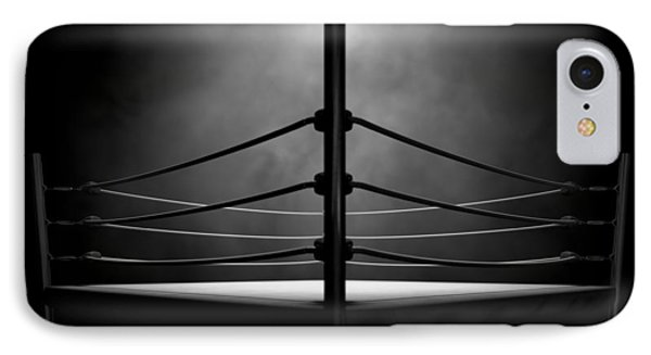 Classic Vintage Boxing Ring IPhone Case by Allan Swart