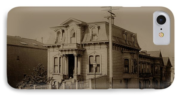 Clay And Hyde Street's San Francisco Built In 1874 Burned In The 1906 Fire Phone Case by California Views Mr Pat Hathaway Archives