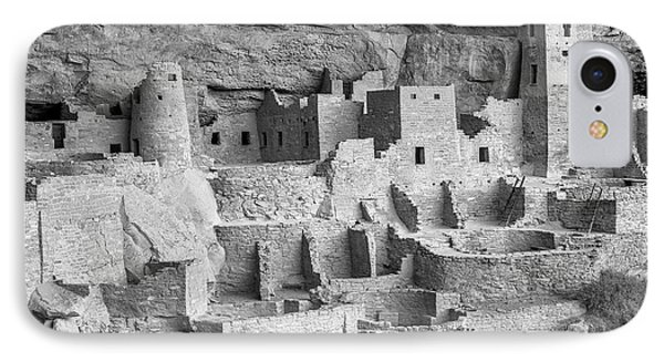 Cliff Palace, Mesa Verde, Colorado, Usa IPhone Case by John Ford