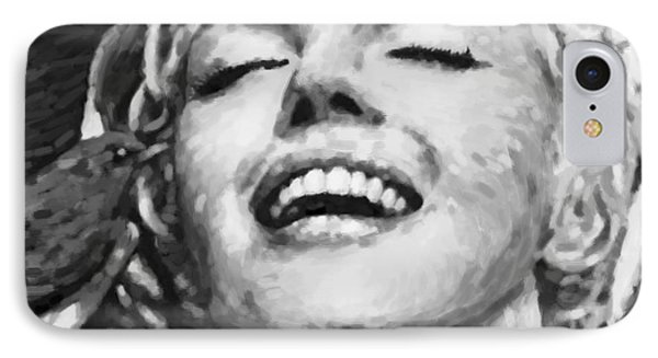 Close Up Beautifully Happy In Black And White IPhone Case by Atiketta Sangasaeng