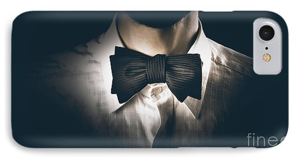 Close-up Of A Model Man Wearing Bow Tie IPhone Case by Jorgo Photography - Wall Art Gallery
