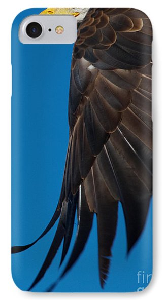 IPhone Case featuring the photograph Close-up Of An American Bald Eagle In Flight by Nick  Biemans