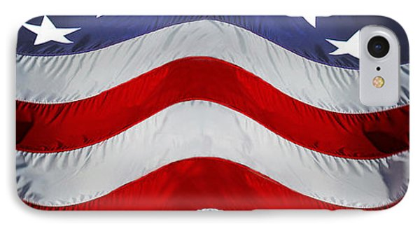Close-up Of An American Flag IPhone Case