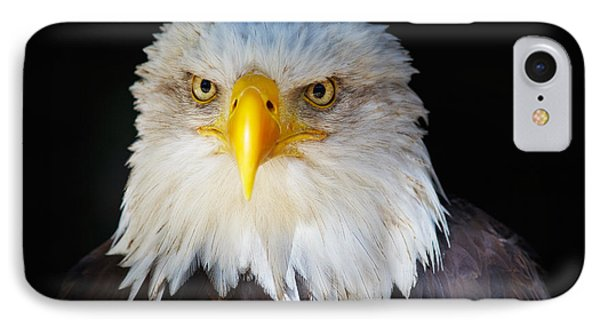 IPhone Case featuring the photograph Closeup Portrait Of An American Bald Eagle by Nick  Biemans