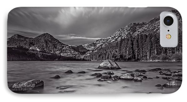Cloud Movement Over Emerald Bay Phone Case by Marc Crumpler