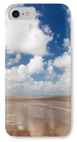 Clouds Over Beach, Wadden Sea National IPhone Case