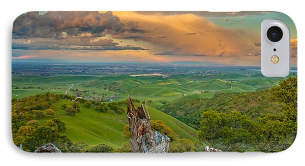Clouds Over Central Valley At Sunset IPhone Case by Marc Crumpler
