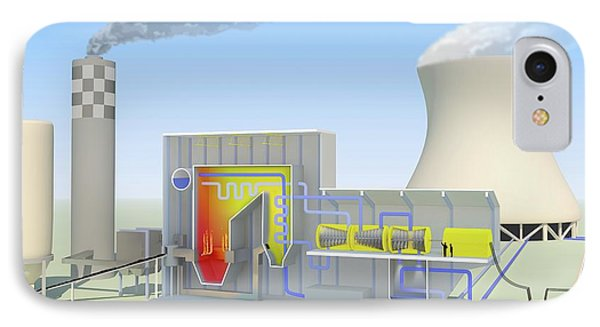 Coal-fired Power Station IPhone Case by Science Photo Library