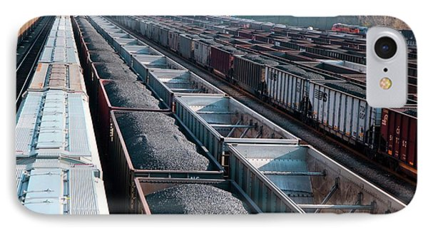Coal Trains In Railway Yard IPhone Case by Jim West