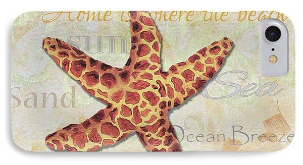 Coastal Decorative Starfish Painting Decorative Art By Megan Duncanson Phone Case by Megan Duncanson