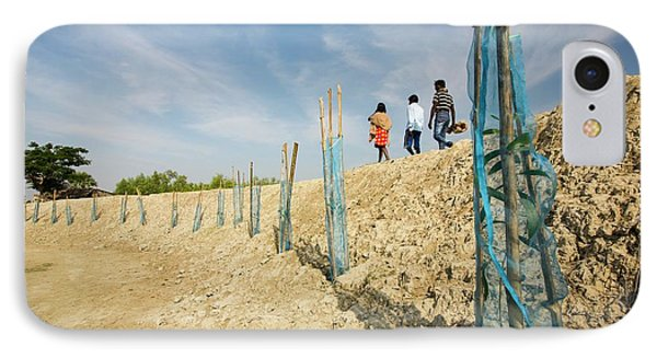 Coastal Flood Defences In The Sunderbans IPhone Case by Ashley Cooper