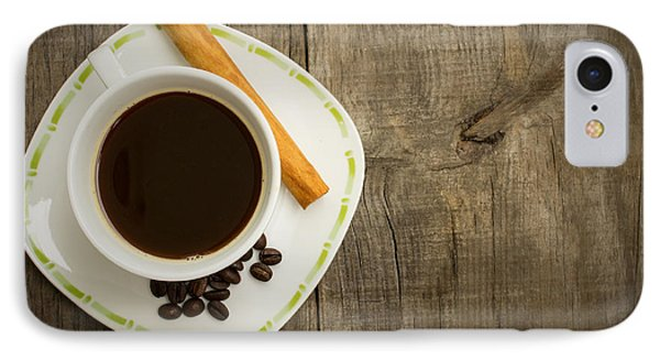 Coffee Cup With Beans And Cinnamon Stick IPhone Case