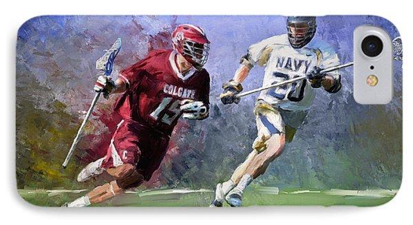 Colgate Lacrosse IPhone Case by Scott Melby