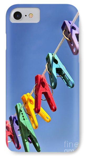 Colorful Clothes Pins Phone Case by Elena Elisseeva