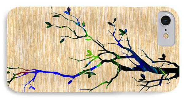 Colorful Tree Branch IPhone Case