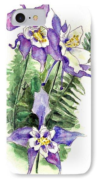 Columbine Flowers Art IPhone Case