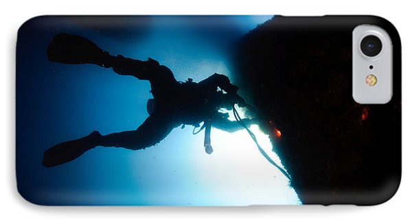 Commercial Diver At Work IPhone Case by Hagai Nativ