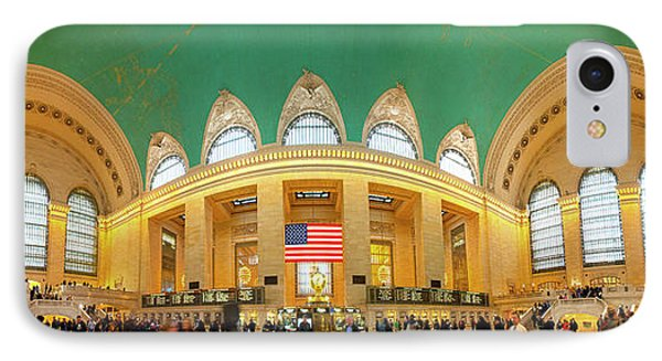 Commuters At A Railroad Station, Grand IPhone Case by Panoramic Images