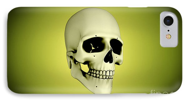 Conceptual View Of Human Skull Phone Case by Stocktrek Images