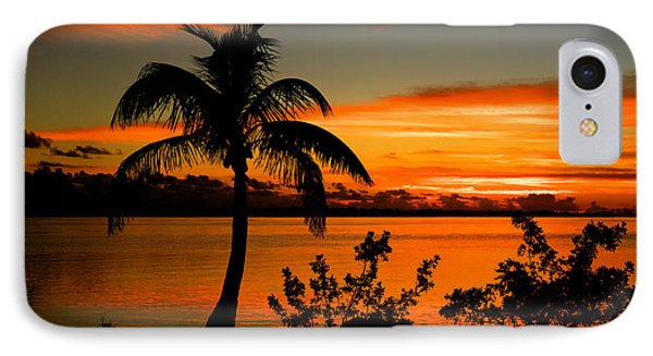Conch Key Bay Sunset IPhone Case by Julis Simo