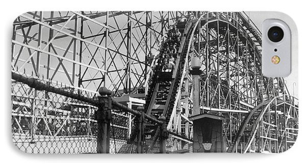 Coney Island - Cyclone Roller Coaster Phone Case by MMG Archives