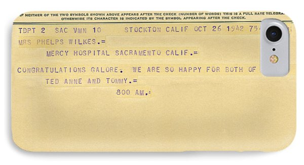 Congratulatory Telegram Phone Case by Underwood Archives