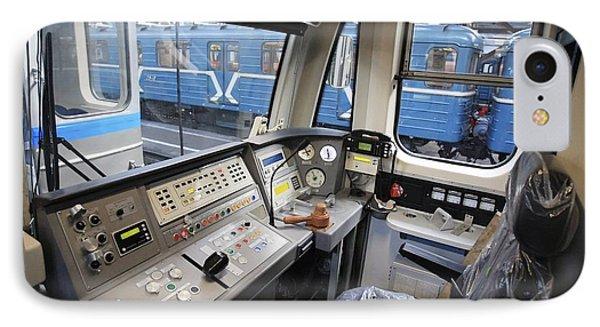 Controls Of A Metro Train In Russia IPhone Case by RIA Novosti