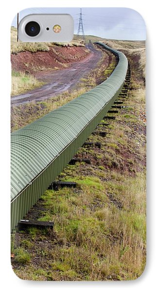 Conveyor With Coal From Opencast Mine IPhone Case by Ashley Cooper