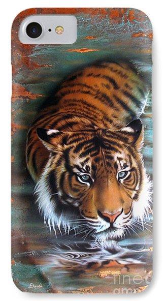 Copper Tiger II IPhone Case by Sandi Baker