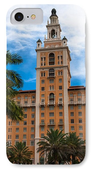 Coral Gables Biltmore Hotel IPhone Case by Ed Gleichman