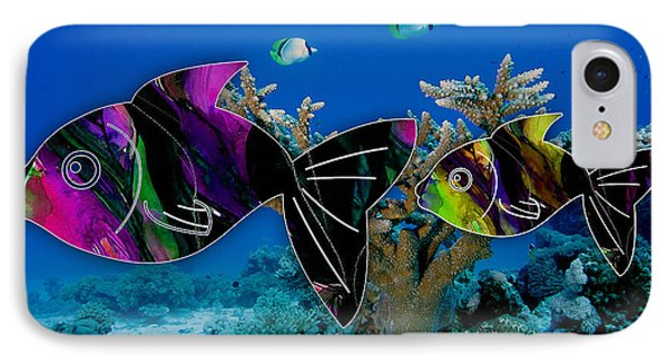 Coral Reef Painting IPhone Case by Marvin Blaine